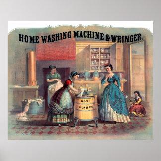 Home Washing Machine Wringer New York Poster
