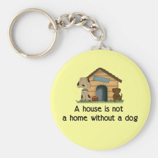 Home With A Dog Keychain