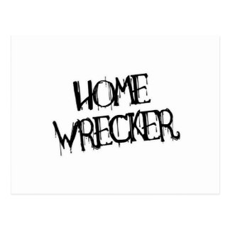 HOME WRECKER POSTCARD