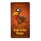 Homebew Beer Labels with Funny Turkey
