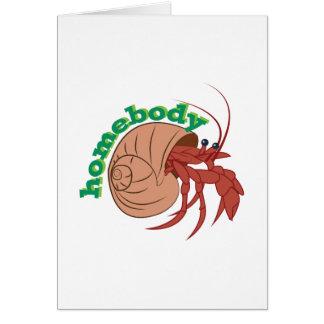 Homebody Crab Card