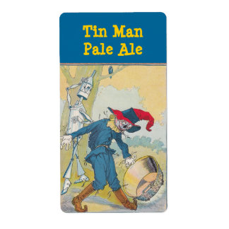 Homebrew labels Tin Man Scarecrow Vintage Oz