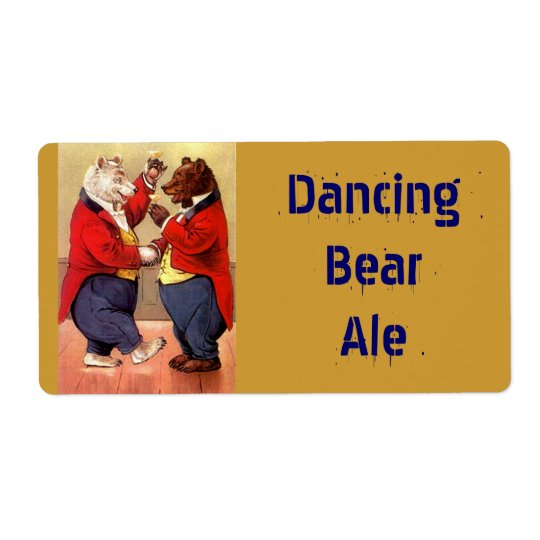 Homebrewing Beer Bottle Label Dancing Party Bears