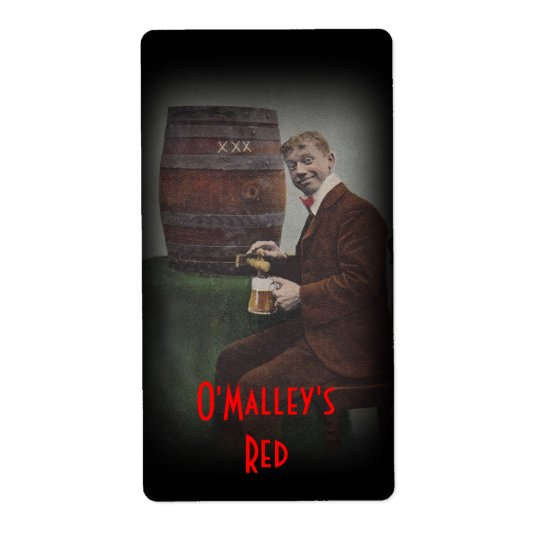 Homebrewing Beer Bottle Label O'Malley's Red Lager