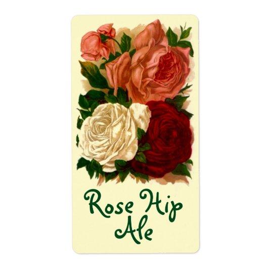 Homebrewing Labels Beer Wine Rose Hip Roses