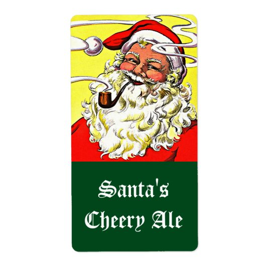 Homebrewing Pipe Smoke Happy Santa Labels
