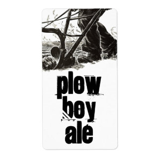 Homebrewing Supplies Beer Plow Boy Ale Field Label Shipping Label