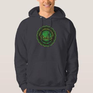 Homegrown baked Men's dark green hoodie