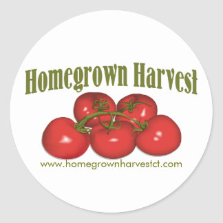 Homegrown Harvest Logo Classic Round Sticker