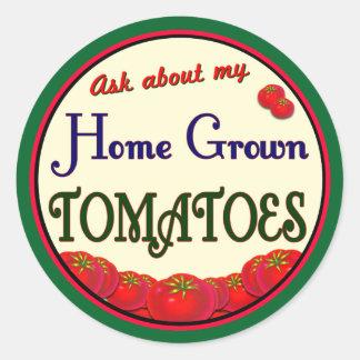 Homegrown Tomatoes Retro Gardener Slogan Sticker
