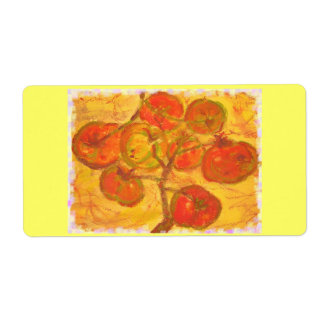 homegrown tomatoes shipping label