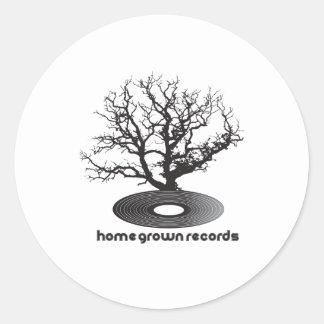 Homegrown Tree Round Sticker