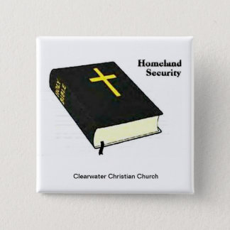 Homeland Security 2 Inch Square Button