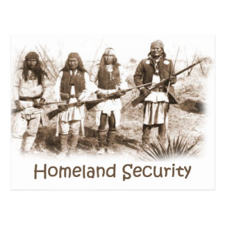 Homeland Security Apache Postcard