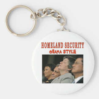 HOMELAND SECURITY BASIC ROUND BUTTON KEYCHAIN