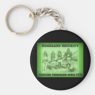 Homeland Security Fighting Terrorism Since 1492 Basic Round Button Keychain