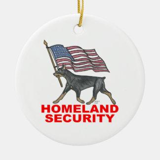 HOMELAND SECURITY HLSDP ROUND CERAMIC ORNAMENT