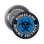 Homeland Zombie Security - Blue B 2 Inch Round Button