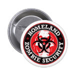 Homeland Zombie Security Skull - Red 2 Inch Round Button