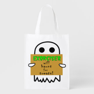 Homeless Ghost Trick or Treat Bag Grocery Bags