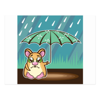 Homeless Hamster cartoon Postcard