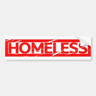 Homeless Stamp Bumper Sticker