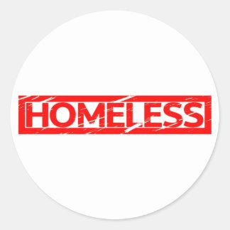 Homeless Stamp Classic Round Sticker