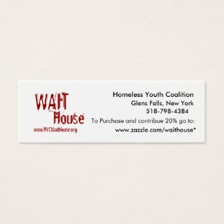 Homeless Youth Coalition, Glens Falls, New York... Mini Business Card