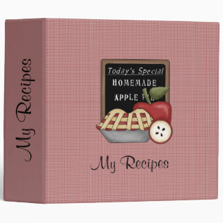 Homemade Apple Pie (Red) Recipe Binder