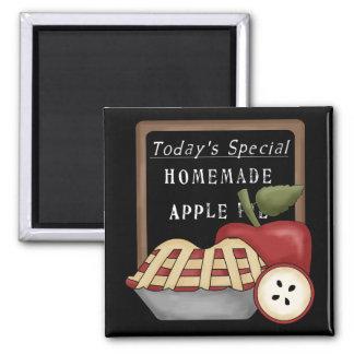 Homemade Apple Pie Square Magnet