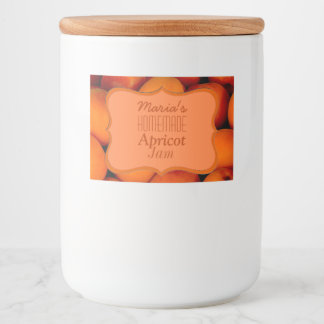 Homemade Apricot Jam Food Label