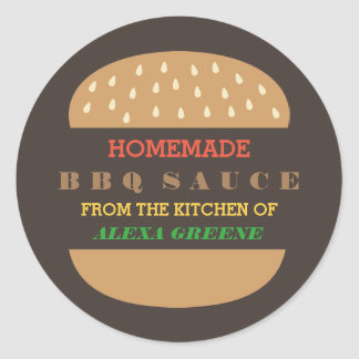 Homemade BBQ Sauce   From the kitchen of Round Sticker