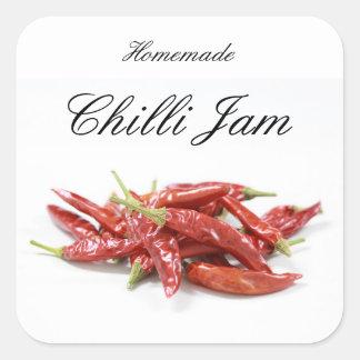 Homemade chilli jam square sticker