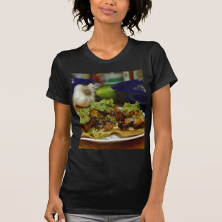 Homemade Chips With Anch Marinated Cod Corn Slaw A T-shirt