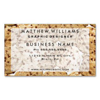 Homemade Chocolate Chip Cookies Magnetic Business Card