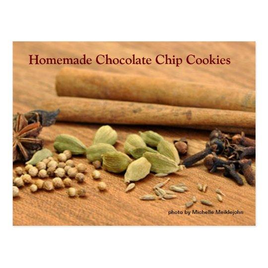 Homemade Chocolate Chip Cookies Postcard