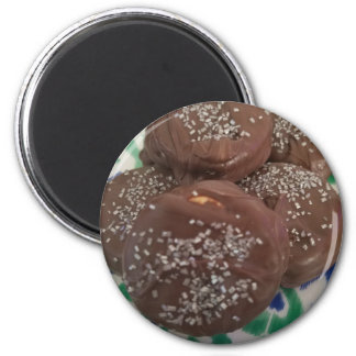 Homemade Chocolate Cookies 2 Inch Round Magnet
