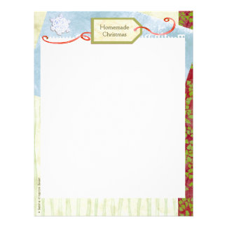 Homemade Christmas Recipe Binder Pages Personalized Letterhead
