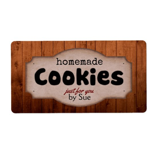 Homemade Cookies by YOU Vintage Labels