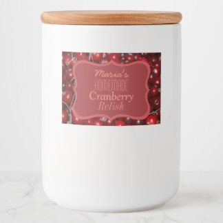 Homemade Cranberry Relish Food Label