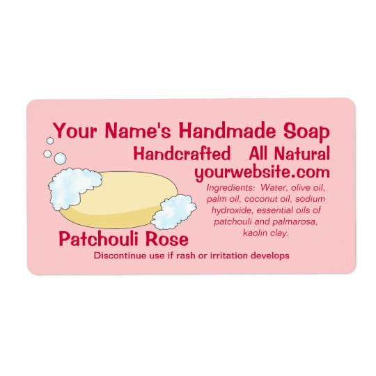 Homemade Custom Soap Labels Template