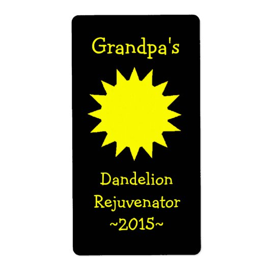 Homemade Dandelion Wine Labels
