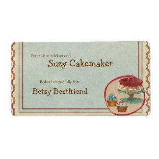 Homemade Dessert Treats Personalized Labels