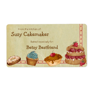 Homemade Desserts Personalized Labels Shipping Labels