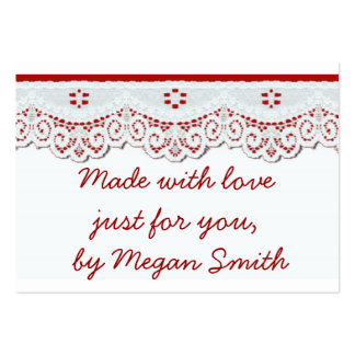 Homemade Gift enclosure tags  vintage retro look Large Business Card