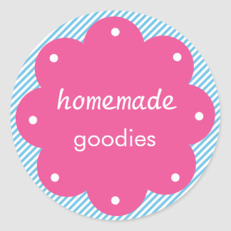Homemade Goodies With Scalloped Edge Circle Classic Round Sticker