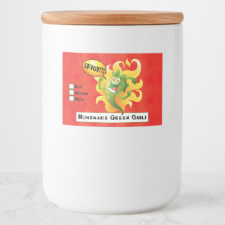 Homemade Green Chili Custom Food Container Label
