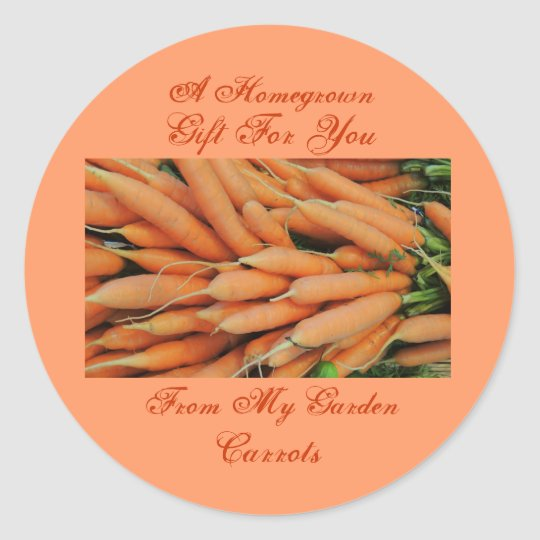 Homemade Homegrown Baby Carrots Label Custom