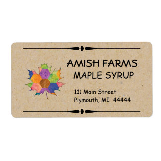 Homemade Maple Syrup Shipping Label