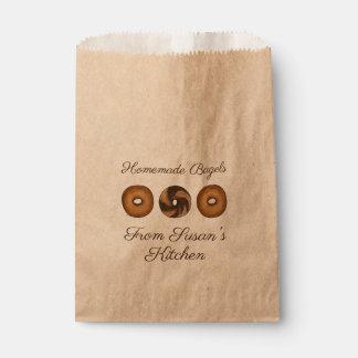 Homemade Marble Rye Cinnamon Plain Bagels Bakery Favour Bag